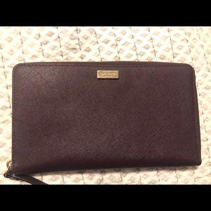 Kate Spade plum wallet/clutch